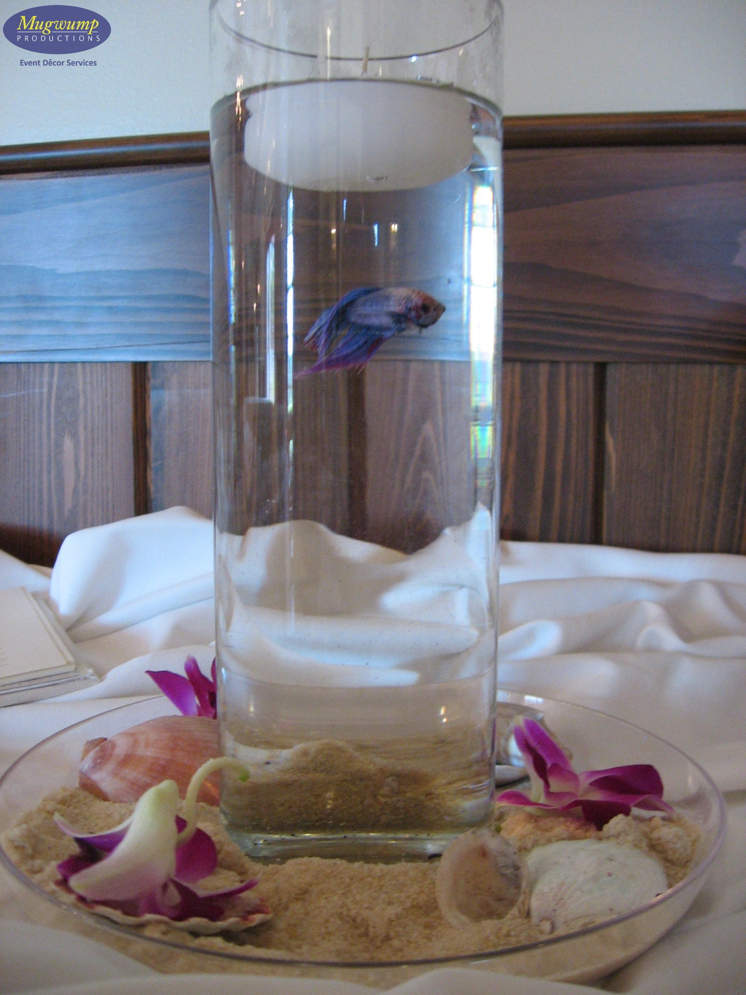 Eventful disclosure centerpieces jacksonville florida for Fish wedding centerpieces