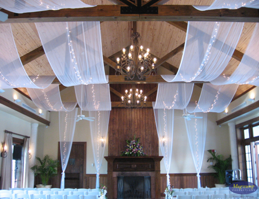 Eventful disclosure ceiling fabric treatments for Decor hanging from ceiling