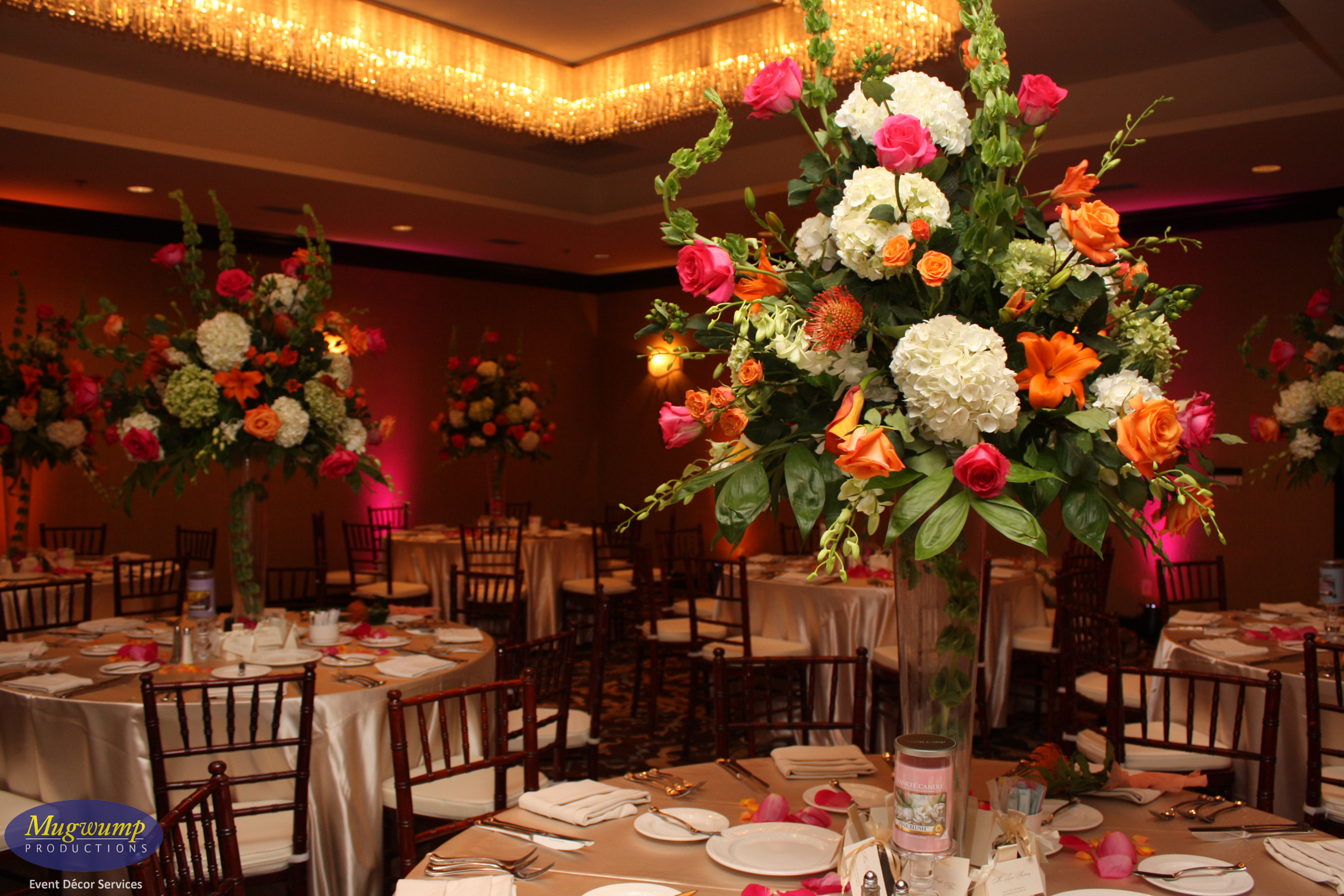 Eventful Disclosure Tall Pink And Orange Floral Wedding