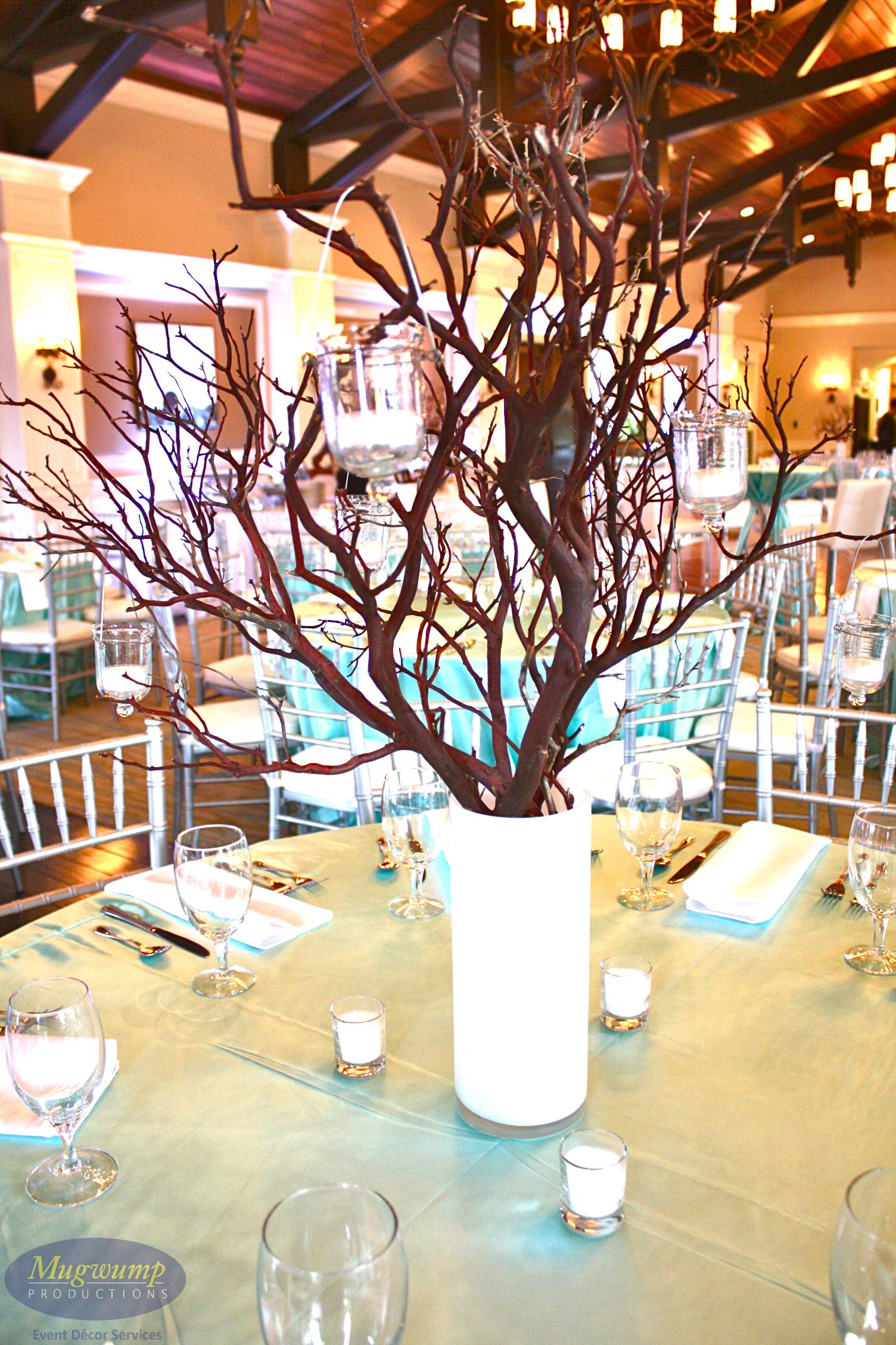 Eventful disclosure manzanita branch centerpieces